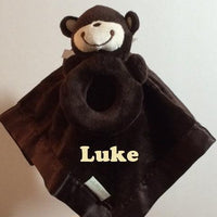 Baby Carter's Monkey Security Blanket Lovey - Personalized