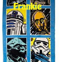 Star Wars Classic Grid Beach Towel - Personalized