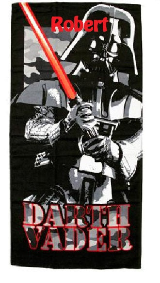 Star Wars Darth Vader Camo Beach Towel - Personalized