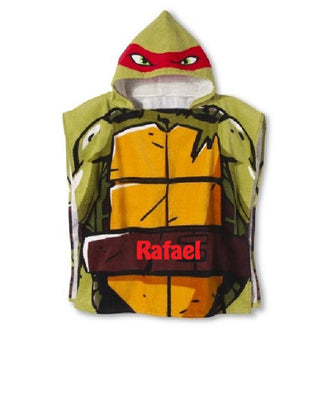TMNT Teenage Mutant Ninja Turtles Hooded Poncho Towel Red Rafael – Personalized