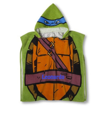 TMNT Teenage Mutant Ninja Turtles Hooded Poncho Towel Leonardo – Personalized