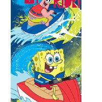 "SpongeBob ""Big Wave Ahead"" Beach Towel - Personalized"