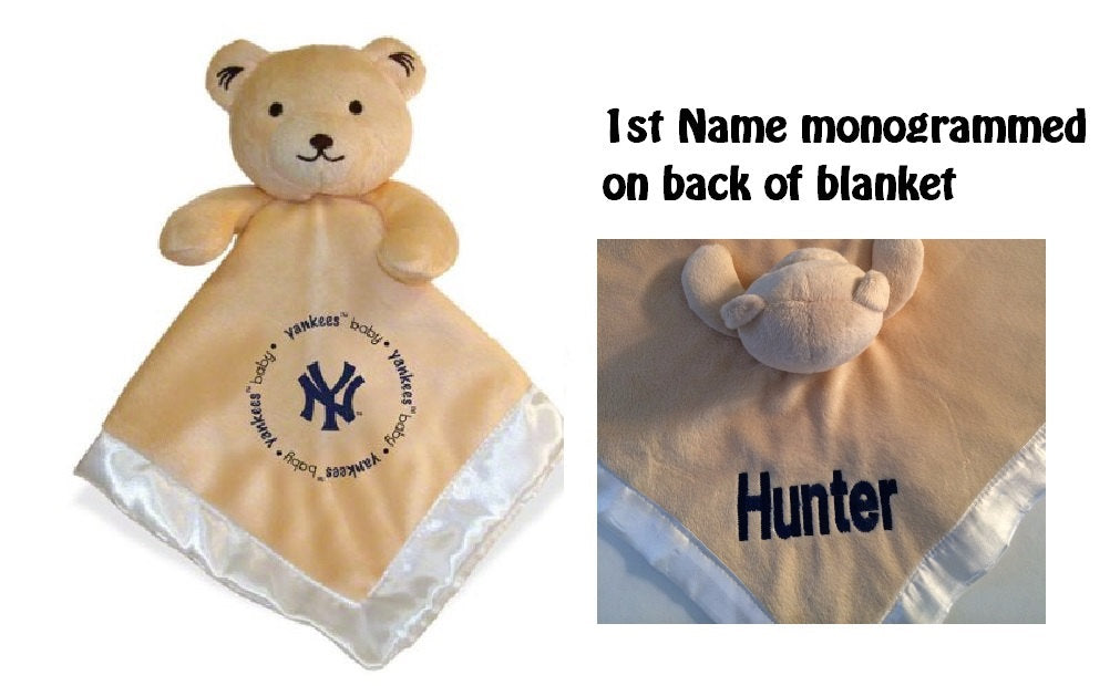 New York YANKEES MLB Security Bear Security Blanket Lovey - Personalized