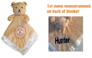 Boston RED SOX MLB Security Bear Security Blanket Lovey - Personalized