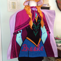 Frozen Anna Hooded Beach Towel Poncho –  Personalized