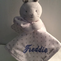 Child of Mine by Carter's Baby Bunny Plush Rattle Security Blanket - Personalized