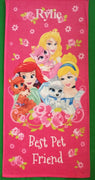 Disney Princess Palace Pets Beach Towel, Pink - Personalized