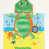 Beach Turtle Hooded Cotton Poncho Beach Towel Personalized