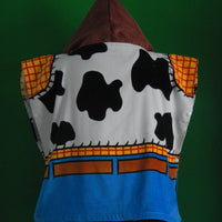 Disney TOY STORY Sheriff WOODY Boy's Hooded Beach Towel Poncho – Personalized