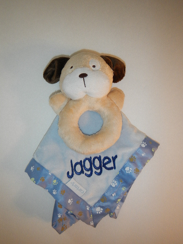 Baby Boy Carter's Puppy Security Blanket Lovey - Personalized