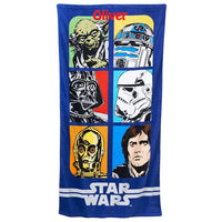Star Wars Collage Grid Beach Towel - Personalized
