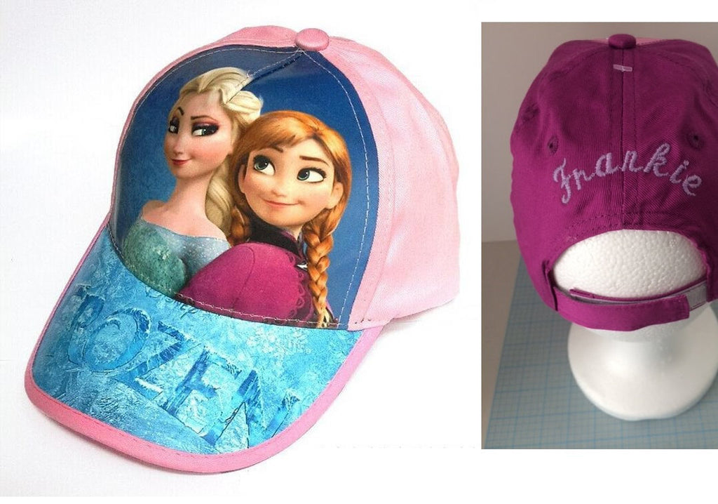 Disney's FROZEN Elsa & Anna Baseball Cap Hat Girls Personalized