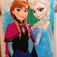 Disney Frozen Anna & Elsa Beach Towel Personalized