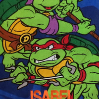 TMNT Turtles Fighting Green Beach Towel - Personalized
