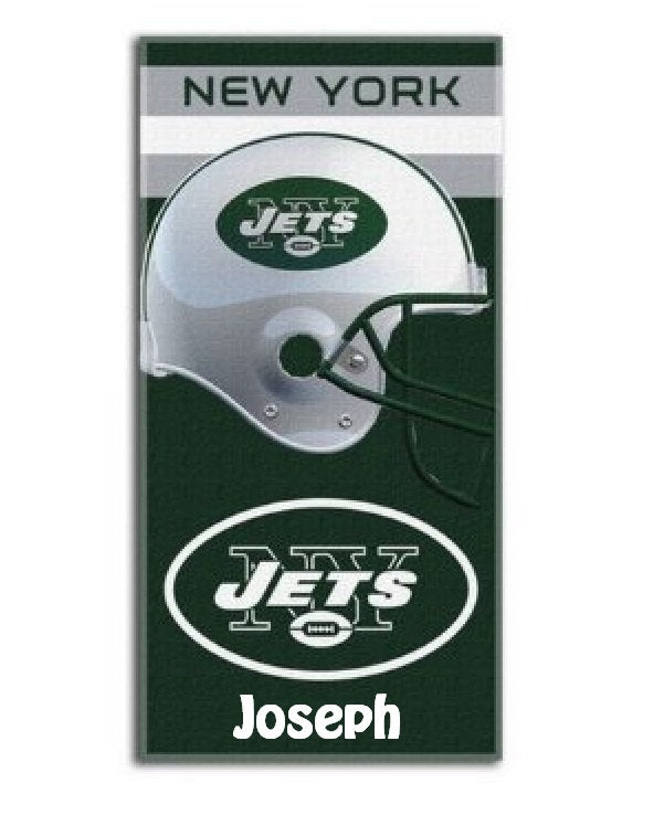 NFL Football New York JETS Beach Towel Personalized