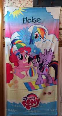 MLP My Little Pony Fun & Sun Beach Towel Personalized
