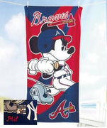 Mickey Mouse MLB Atlanta BRAVES Beach Towel Personalized