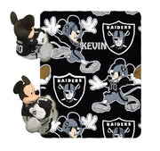 Disney Mickey Mouse NFL OAKLAND Raiders Fleece Throw Blanket & Mickey Hugger - Personalized