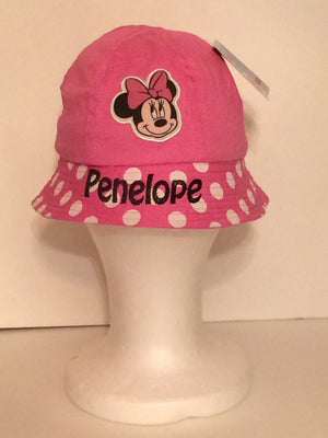 Disney Junior Minnie Mouse Applique Bucket Hat - Personalized