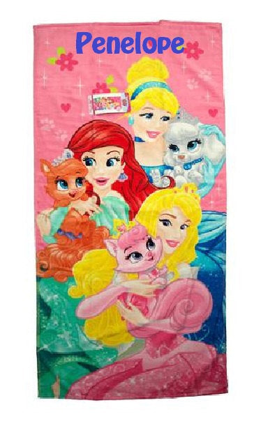 Disney Palace Pets Paws and Hearts Beach Towel - Personalized