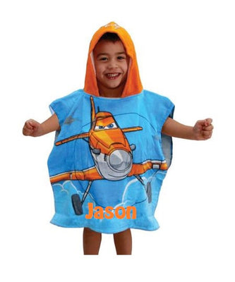 Disney Planes Echo Bravo Hooded Poncho Bath Towel - Personalized