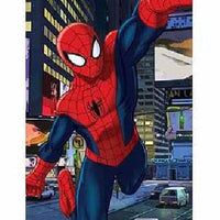 The Ultimate Spider-Man Over the City Beach Towel - Personalized