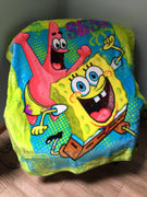Spongebob Zappy Sponge 40x50 Mink Style Blanket in Gift Box - Personalized
