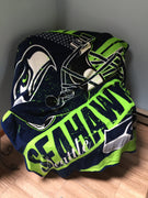 "Seattle Seahawks NFL ""Football"" Raschel Throw - Personalized"