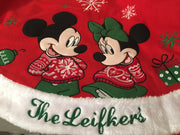 Disney Minnie & Mickey Mouse Christmas Tree Skirt - Personalized