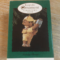 Christmas Ornament -  1994 Hallmark Keepsake Ornament Collector's Club - Holiday Pursuit