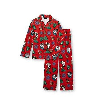Joe Boxer Boy's Christmas Button-Front Pajamas - Boys 4-16 Personalized