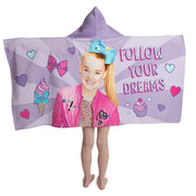 "Jo Jo Siwa ""Follow Your Dreams"" Hooded Bath Towel Wrap - Personalized"