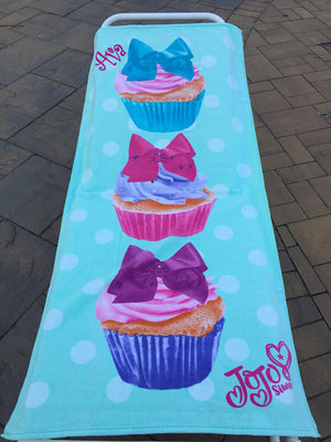 JoJo Siwa Cupcake Beach Towel - Personalized