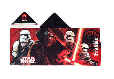 Star Wars Hooded Bath Towel Wrap Stormtrooper Kylo Ren - Personalized
