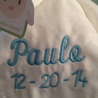 Carter's Lamb Plush Security Blanket with Pacifier Clip Lovey - Personalized