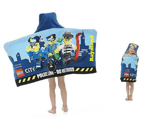 LEGO City Hooded Beach Towel Wrap – Personalized