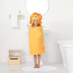 Lion Hooded Bath Towel Wrap– Personalized