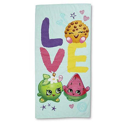 SHOPKINS LOVE Shopaholic Beach Towel - Personalized