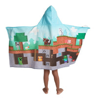 Minecraft Hooded Bath Towel Wrap - Personalized