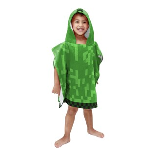 Minecraft Hooded Bath Poncho Towel - Personalized