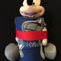 Disney Mickey Mouse NFL Indianoplis COLTS Fleece Throw Blanket & Hugger - Personalized