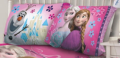 Disney Frozen Nordic Floral Pillowcase - Pillowcase - Personalized