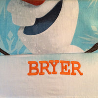 "Frozen ""I'm Olaf"" OLAF Beach Towel Personalized"