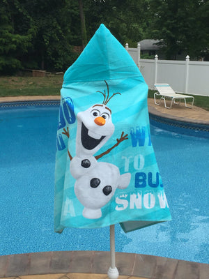 Kids Hooded Beach Towel Wrap Dinsey FROZEN OLAF - Personalized
