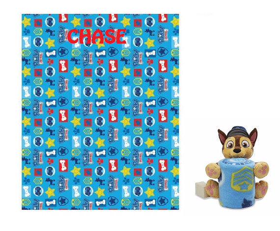 Paw Patrol CHASE Throw & Plush Set - Personalized