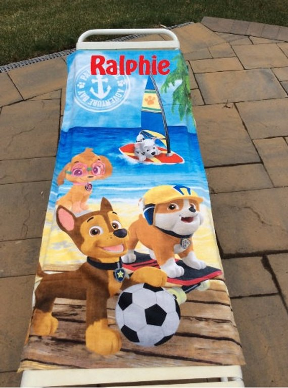 Paw Patrol Beach Towel SOCCER ball - Personalized