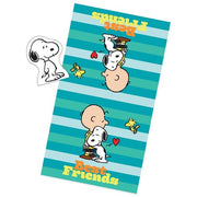 Peanuts Best Friends Bath Towel And Wash Mitt Set - Personalized