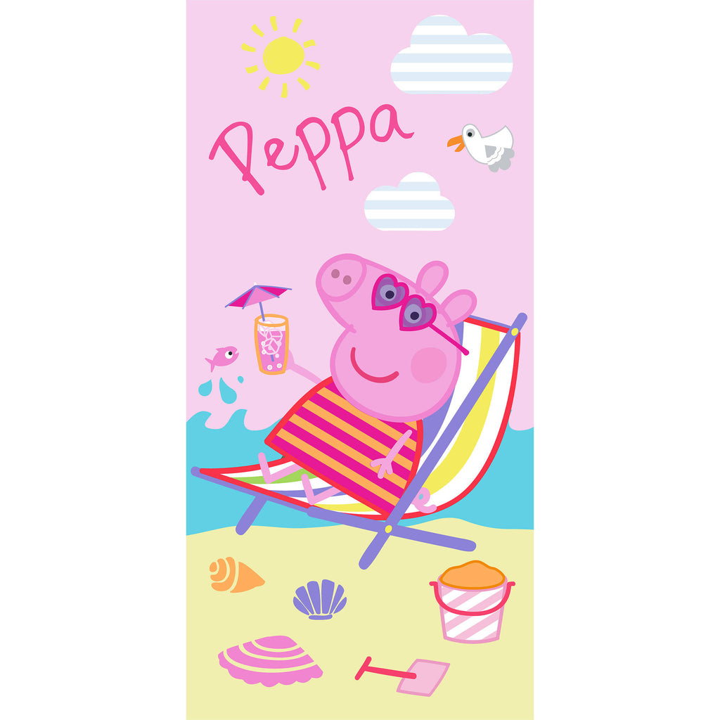 "Peppa Pig 28"" x 58"" Kids Cooling Off Beach Towel - Personalized Beach Towel"