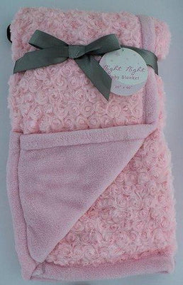 Night Night Baby Pink Blanket - Personalized