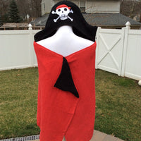 PIRATE Hooded Towel Bath Wrap - Personalized